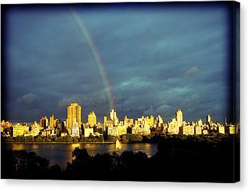 Rainbow In The City Canvas Print