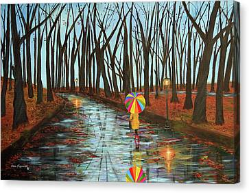 Rainbow In The Park 2 Canvas Print by Ken Figurski