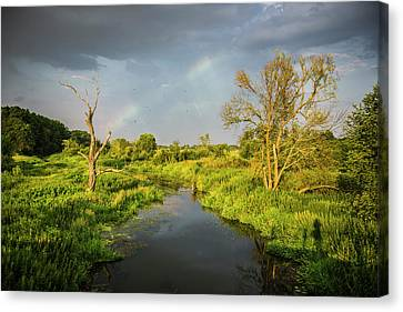 Rainbow Canvas Print by Jaroslaw Grudzinski