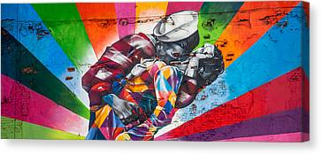 Graffiti Canvas Print - Rainbow Kiss Panorama by Az Jackson