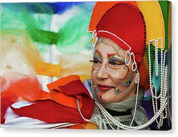Rainbow Lady Canvas Print