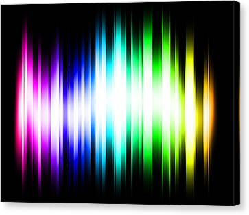 Beam Canvas Print - Rainbow Light Rays by Michael Tompsett