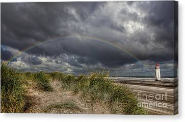 Rainbow Lighthouse Canvas Print by Adrian Evans