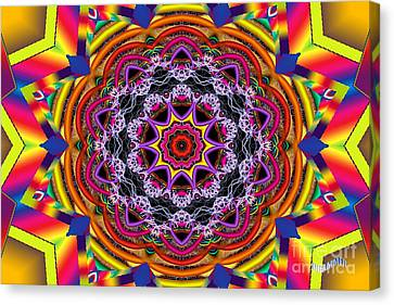 Rainbow Lightning Canvas Print by Bobby Hammerstone