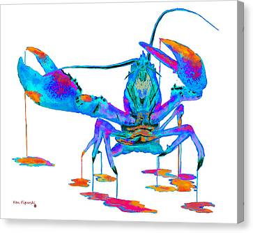 Rainbow Lobster  Canvas Print
