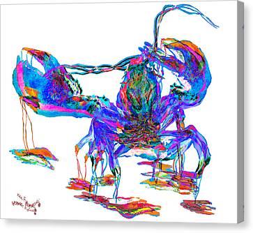 Rainbow Lobster On Acid Canvas Print