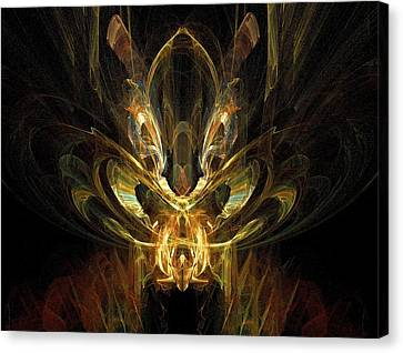 Canvas Print featuring the digital art Rainbow Locust by R Thomas Brass