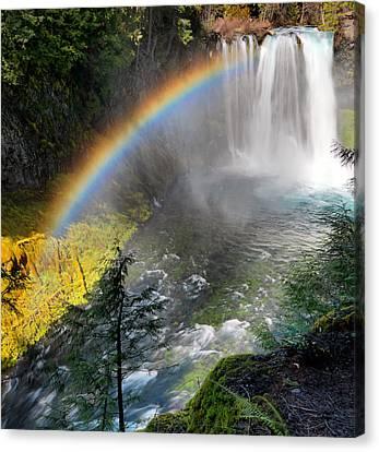 Rainbow Mist Canvas Print by Leland D Howard