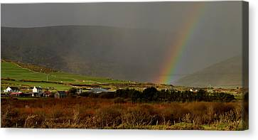Rainbow Near Dingle Canvas Print by Barbara Walsh