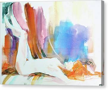 Rainbow Nude Canvas Print by Gertrude Palmer