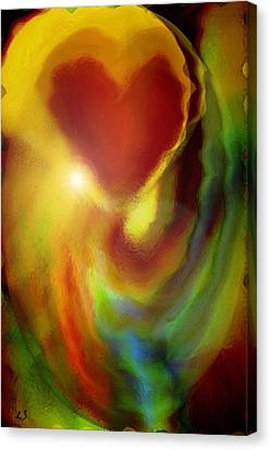 Rainbow Of Love Canvas Print by Linda Sannuti