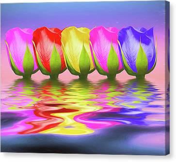 Rose Canvas Print - Rainbow Of Roses II by Tom Mc Nemar