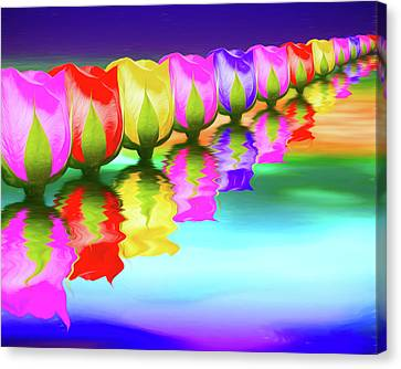 Rose Canvas Print - Rainbow Of Roses IIi by Tom Mc Nemar