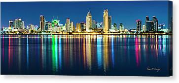 Rainbow On The Water Canvas Print