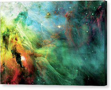 Abstract Art Canvas Print - Rainbow Orion Nebula by Jennifer Rondinelli Reilly - Fine Art Photography