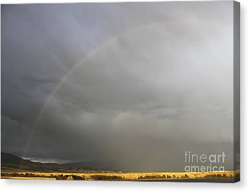 Rainbow Over Canyon Ferry Lake Canvas Print by Carolyn Brown
