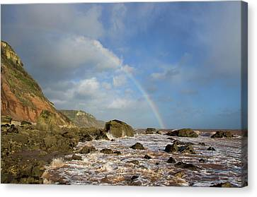 Rainbow Over Dunscombe Cliff Canvas Print