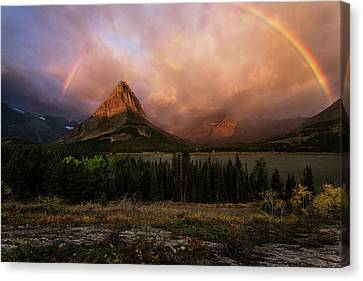 Rainbow Over Mt Gould Canvas Print