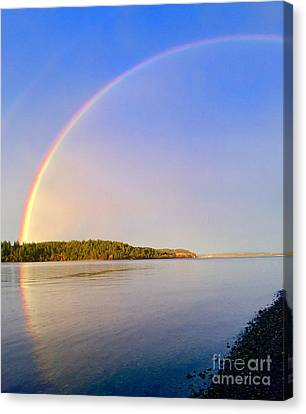 Rainbow Reflection Canvas Print by Sean Griffin