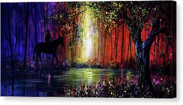Rainbow Ride Canvas Print by Ann Marie Bone