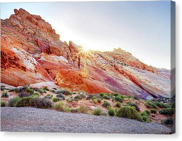Rainbow Rocks At Valley Of Fire, Nevada, Usa Canvas Print