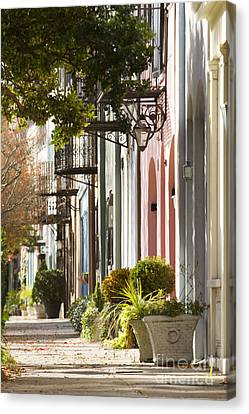 Carolina Canvas Print - Rainbow Row Charleston Sc 2 by Dustin K Ryan