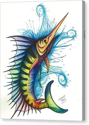 Rainbow Sailfish Canvas Print