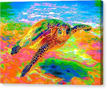 Rainbow Sea Turtle Canvas Print