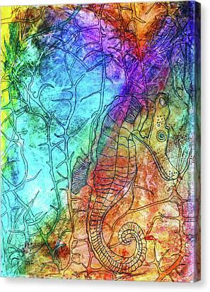 Rainbow Seahorse Canvas Print