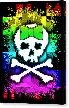 Rainbow Skull Canvas Print