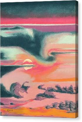 Rainbow Sky Canvas Print by Harvey Rogosin