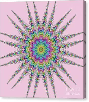 Rainbow Star Canvas Print by Elaine Teague