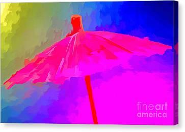 Rainbow Storm Canvas Print by Krissy Katsimbras