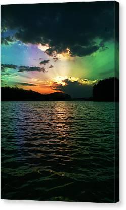 Rainbow Sunset Canvas Print by Adam LeCroy