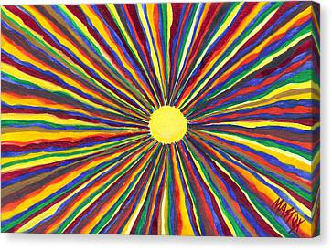 Rainbow Sunshine Canvas Print by Tim Mattox