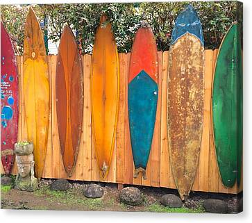 Surfboard Rainbow Canvas Print