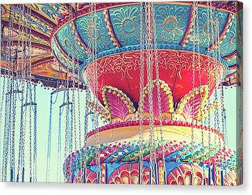 Canvas Print featuring the photograph Rainbow Swings by Melanie Alexandra Price