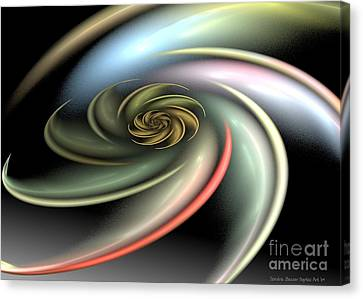 Rainbow Swirl Canvas Print by Sandra Bauser Digital Art