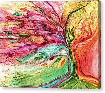 Fanciful Canvas Print - Rainbow Tree by Carol Cavalaris