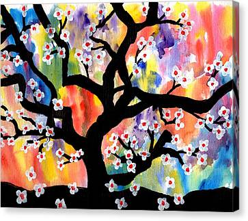 Rainbow Tree Canvas Print by Connie Valasco