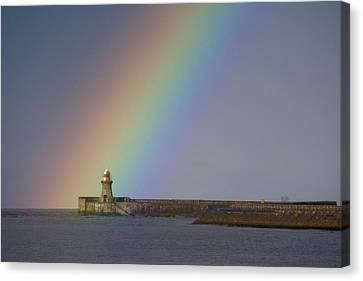 Rainbow, Tyne And Wear, England Canvas Print by John Short