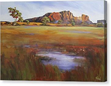 Australian Open Canvas Print - Rainbow Valley  Australia by Chris Hobel