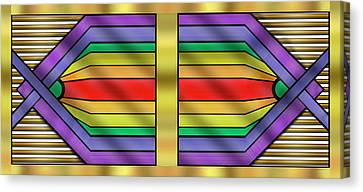 Canvas Print featuring the digital art Rainbow Wall Hanging Horizontal by Chuck Staley