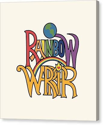 Aquarian Canvas Print - Rainbow Warrior by Walker Fee