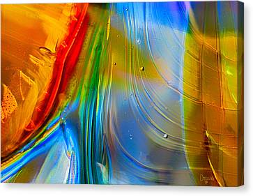 Rainbow Waterfalls Canvas Print by Omaste Witkowski