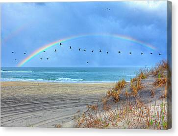 Rainbows And Wings I Canvas Print