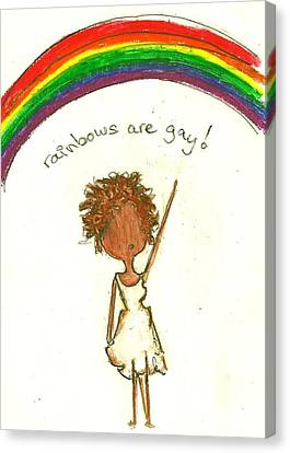 Rainbows Are Gay Canvas Print