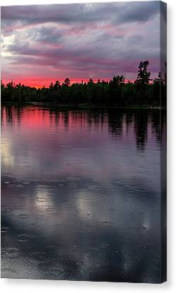 Raindrops At Sunset Canvas Print