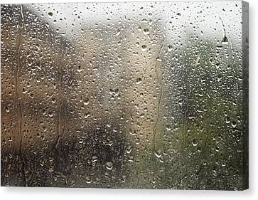 Raindrops On Window Canvas Print by Brandon Tabiolo - Printscapes