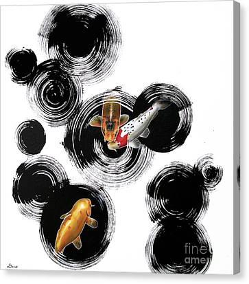 Raindrops Reveal 3 Canvas Print by Sandi Baker
